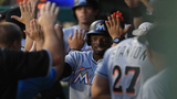 Marlins outscore Rangers 22-10, set franchise record for runs