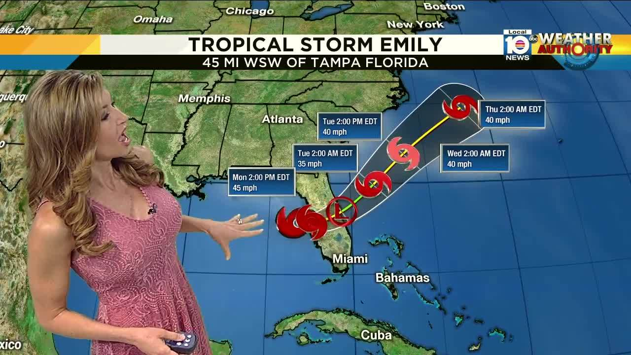 Tropical Storm Emily Forms Off Tampa Coast - Tampa to bahamas