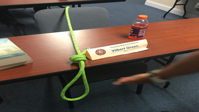 Noose placed on firefighter recruit's chair_1502403516532.jpg