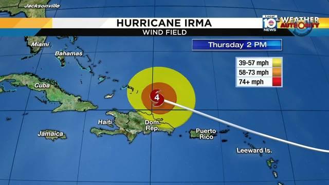 Irma Wind Field Thursday 2 pm
