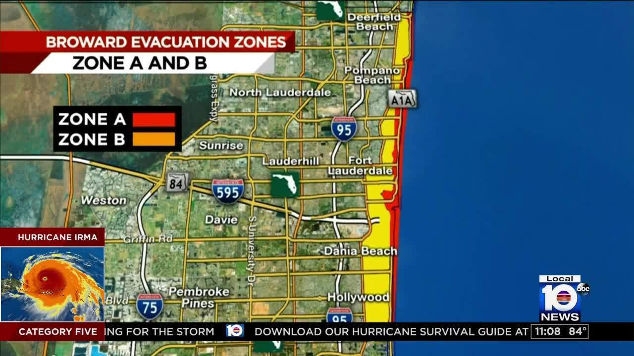 mandatory evacuations ordered for portions of broward county