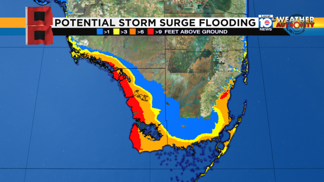 Irma Storm Surge Thursday 2 pm