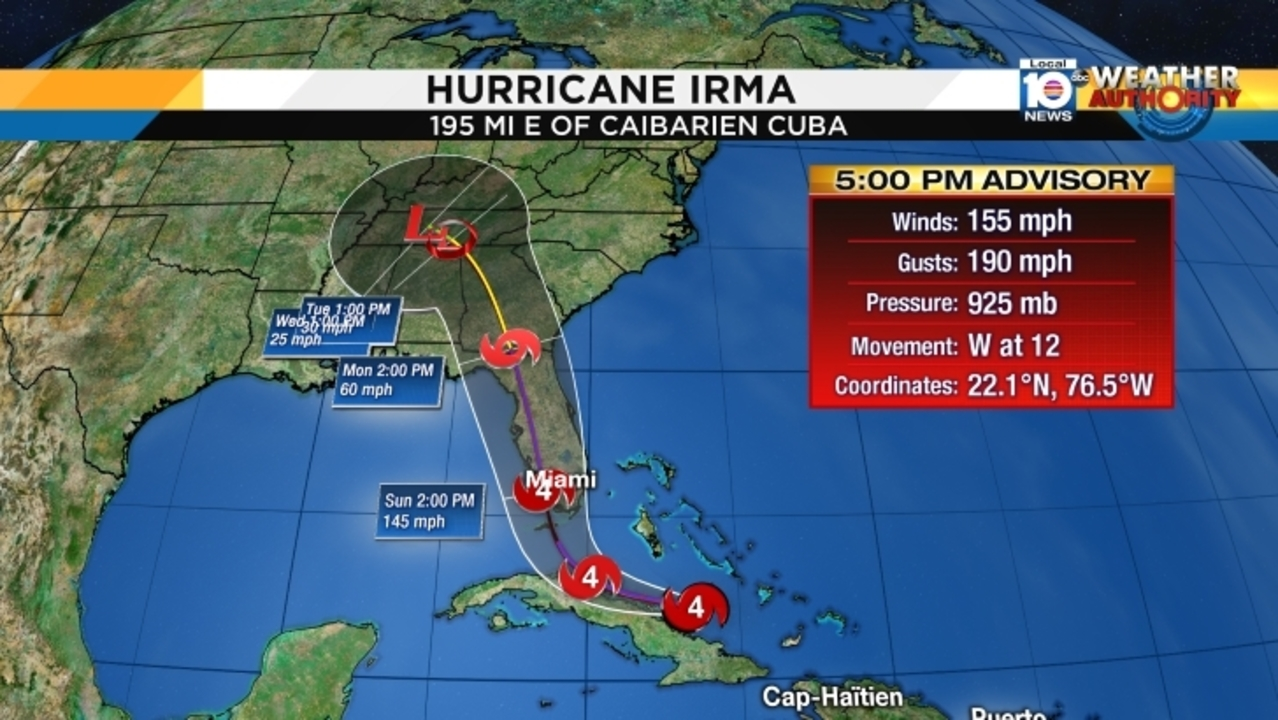 Irma Expected To Become Category 5 As It Approaches South Florida