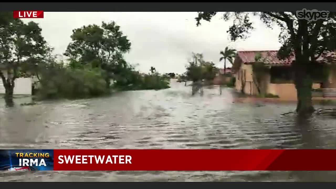 Hurricane Irma floods Miami-Dade's Sweetwater