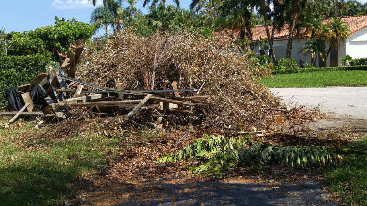 When will Irma debris piles be hauled away?