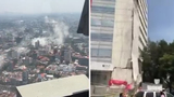 Powerful earthquake hits central Mexico, collapses buildings