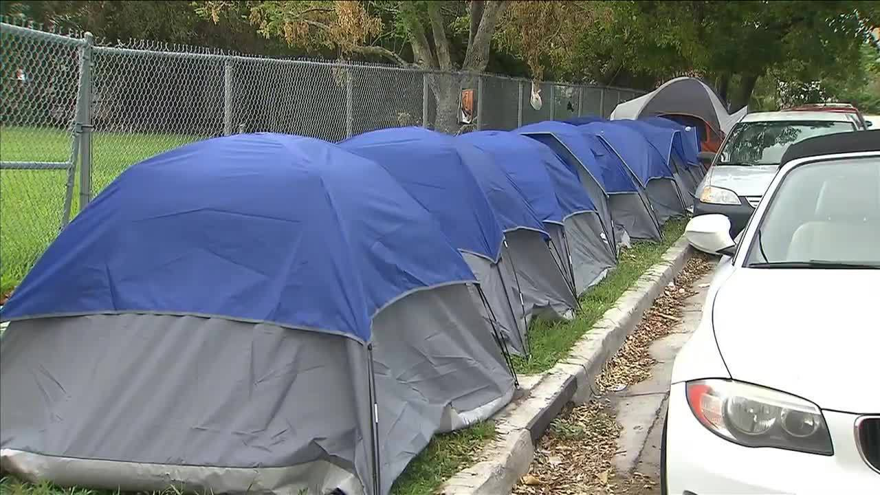 & Nonprofit group builds tent camp for Civic Towersu0027 residents