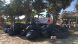 100 bags of debris, trash collected from Virginia Key Beach