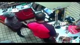 Surveillance video shows armed robbery at Hollywood gas station