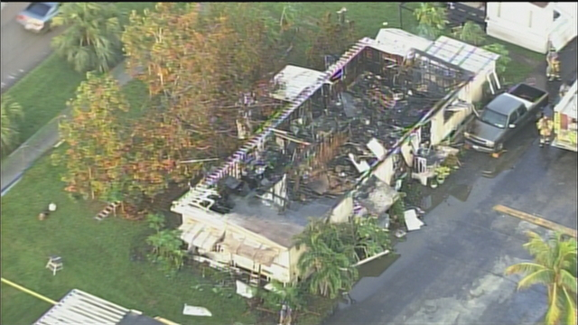 Miami Gardens Mobile Home Fire Hole In Roof