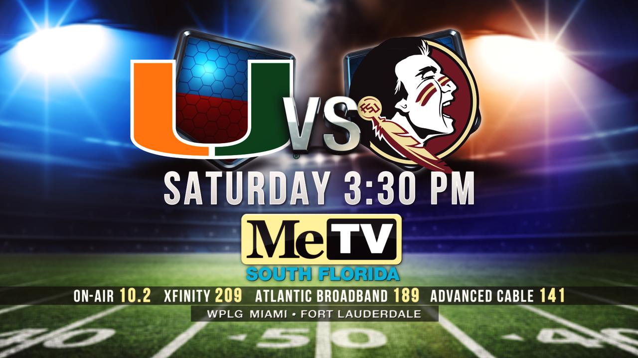 Watch Miami-FSU game Saturday on MeTV