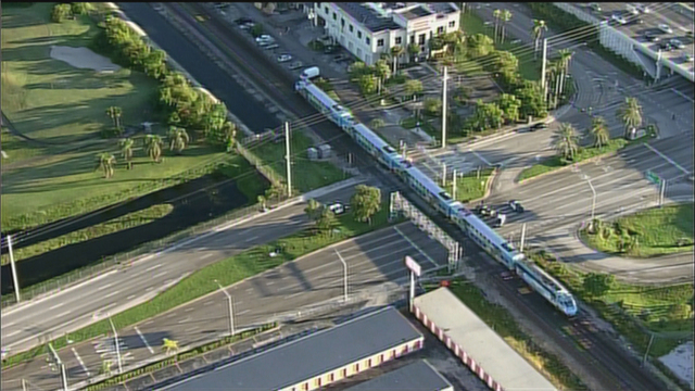 Tri-Rail Train Stopped On Tracks Pembroke Park