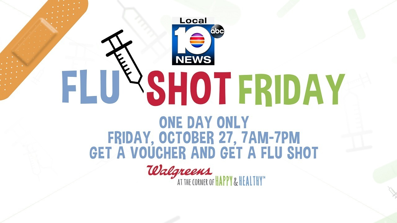 Local 10, Walgreens team up for \'Flu Shot Friday\'