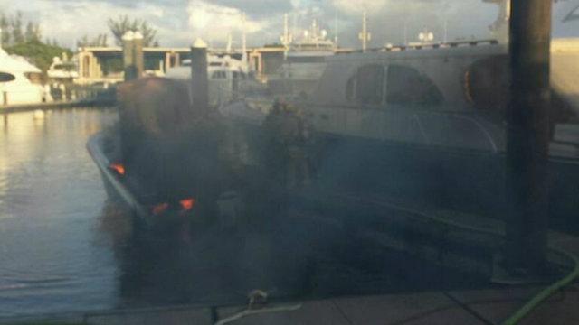 11-18-17 Fort Lauderdale boat fire 2