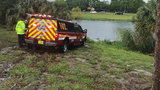2 injured after car ends up in lake in Deerfield Beach