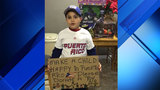 Boy is determined to collect toys for children in Puerto Rico