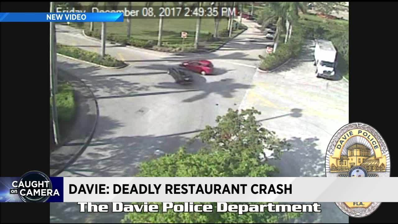 Video captures moment car crashes into Pollo Tropical in Davie