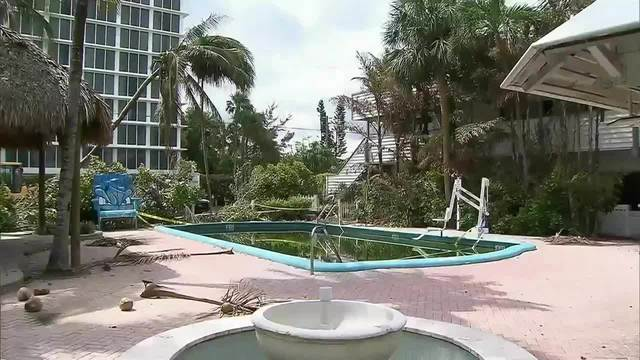 Bahia Cabana pool after Hurricane Irma