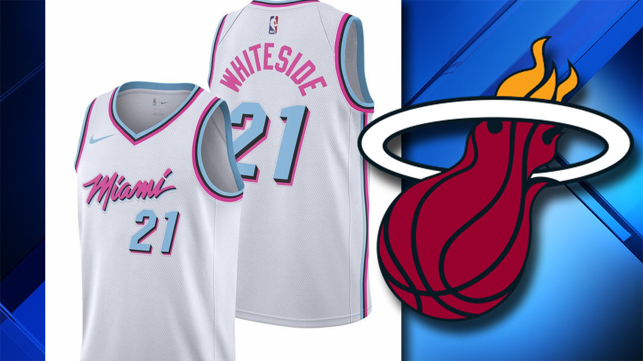 quality design 6cec3 b019f Heat's new alternate jersey inspired by 'Miami Vice'