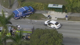 1 airlifted to hospital after car collides with van in Homestead