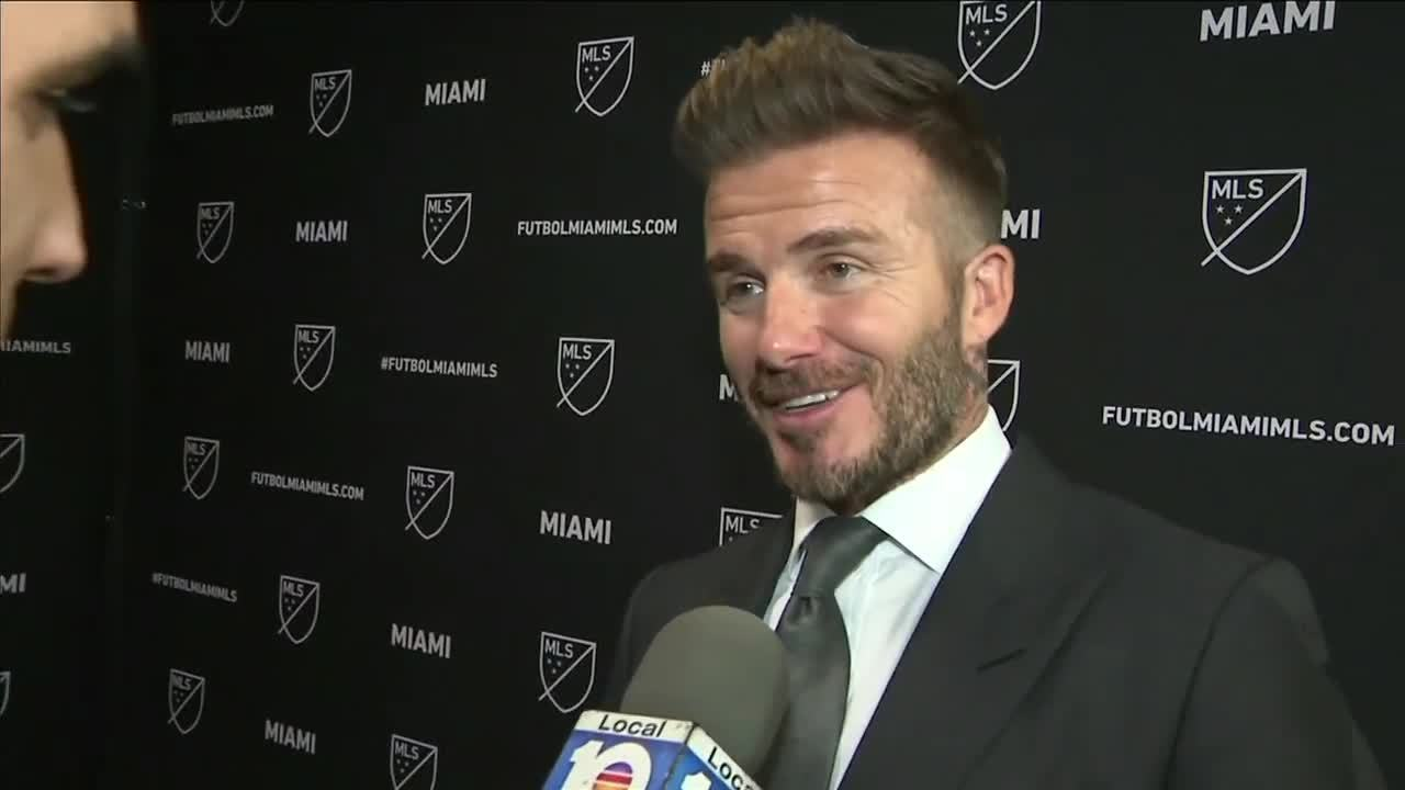 fe975a93340b3 Video thumbnail for David Beckham unveils plans for Miami soccer team