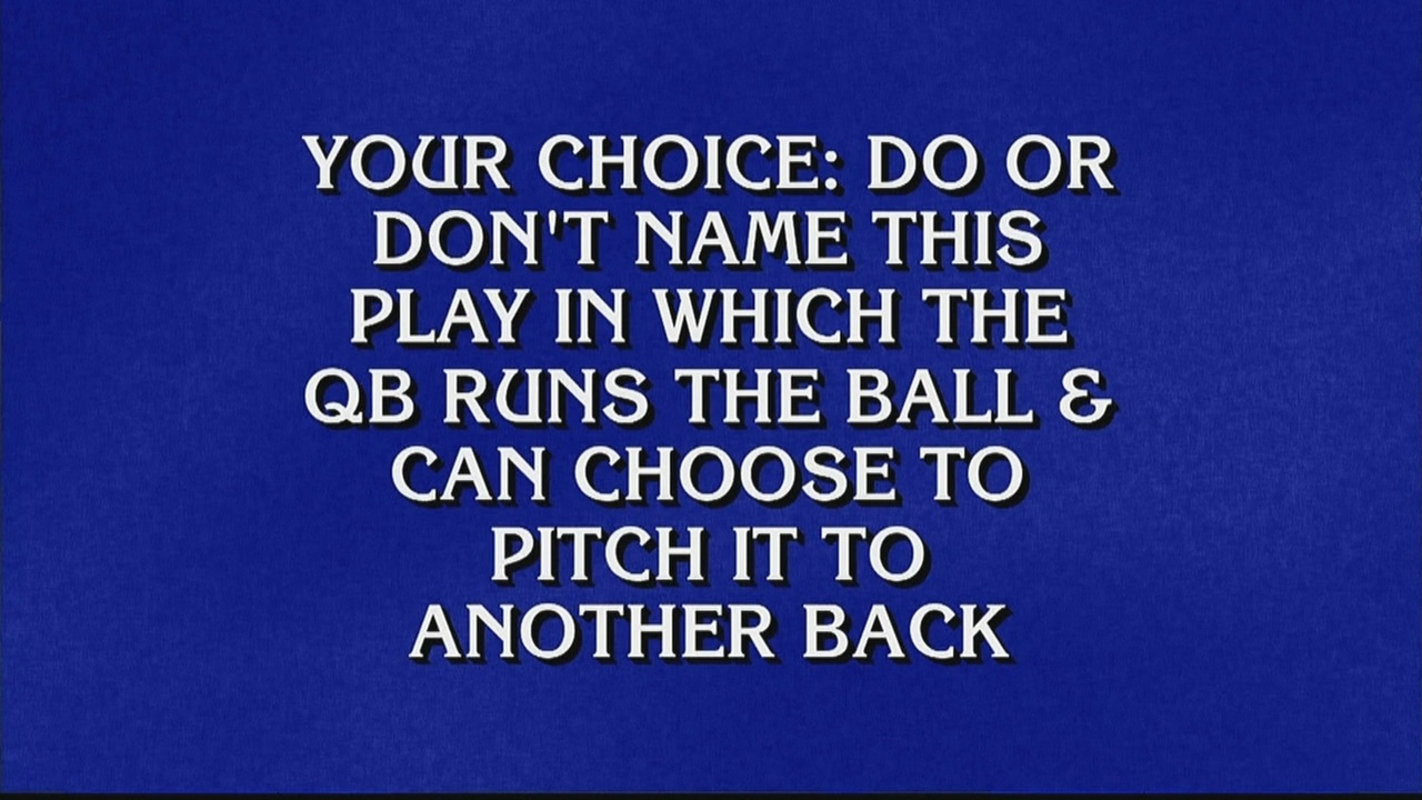Jeopardy contestants go 0-5 in football category