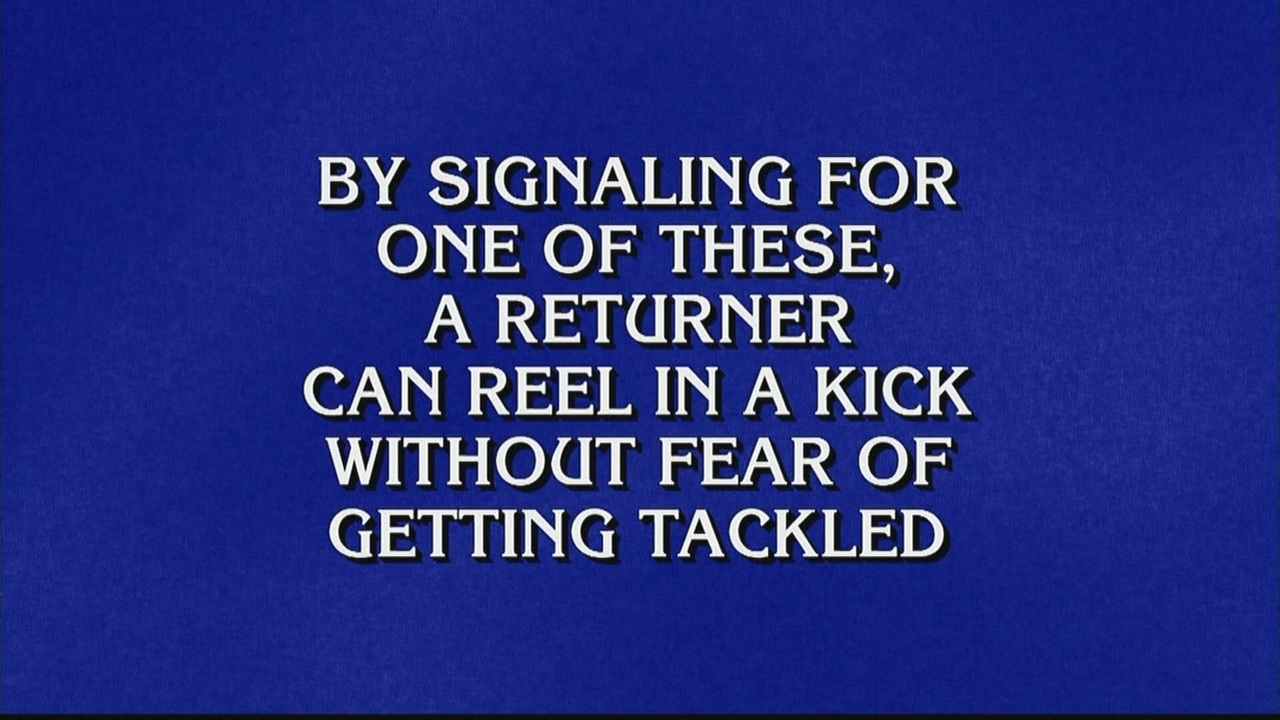 Jeopardy! Contestants Completely Blank on Five Football Questions in a Row