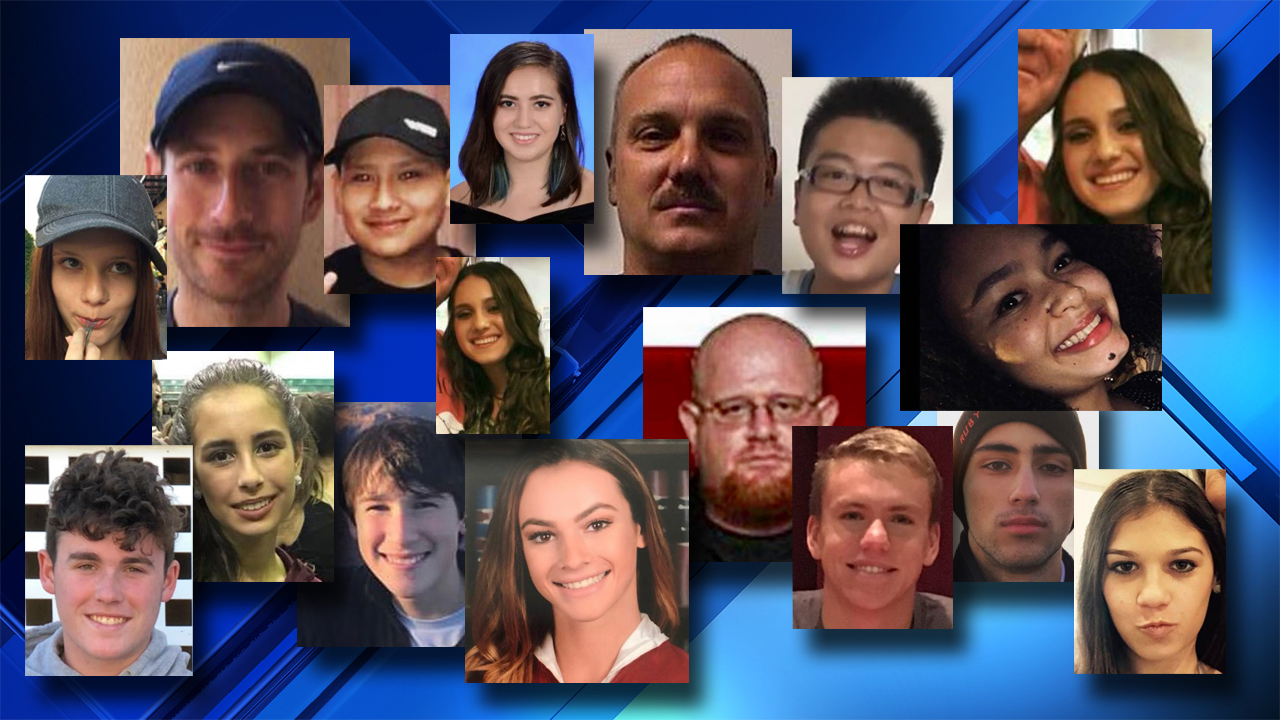 Who were the victims of the Parkland school shooting?