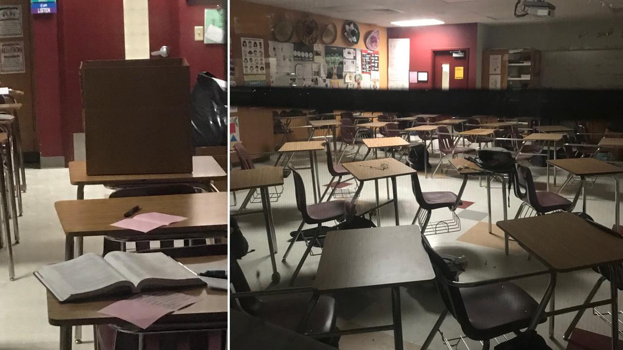 Photos show crime scene at Marjory Stoneman Douglas High School