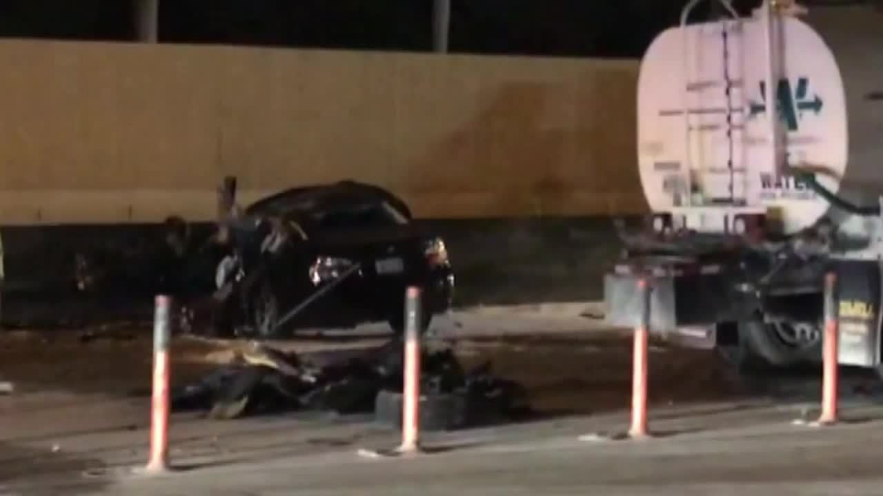1 killed in wrong-way crash on I-95 in Miami
