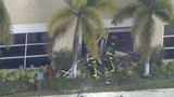 Woman on fire crashes into Broward Sheriff's Office substation in Pembroke Park