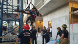 Miami crane operator seriously hurt after falling from ladder