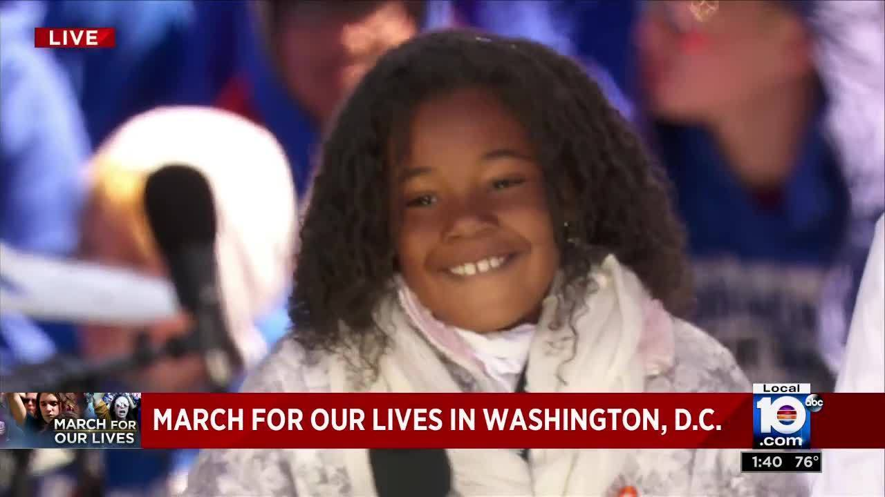 Marching For Our Lives Martin Luther King S 9 Year Old