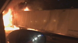 Tractor-trailer fire shuts down portion of Florida's Turnpike in Broward