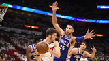 76ers rally late, push Heat to brink of elimination