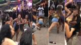 Video shows half a dozen women fighting in SoBe