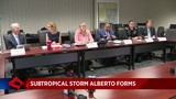 Officials discuss subtropical storm at Broward County EOC