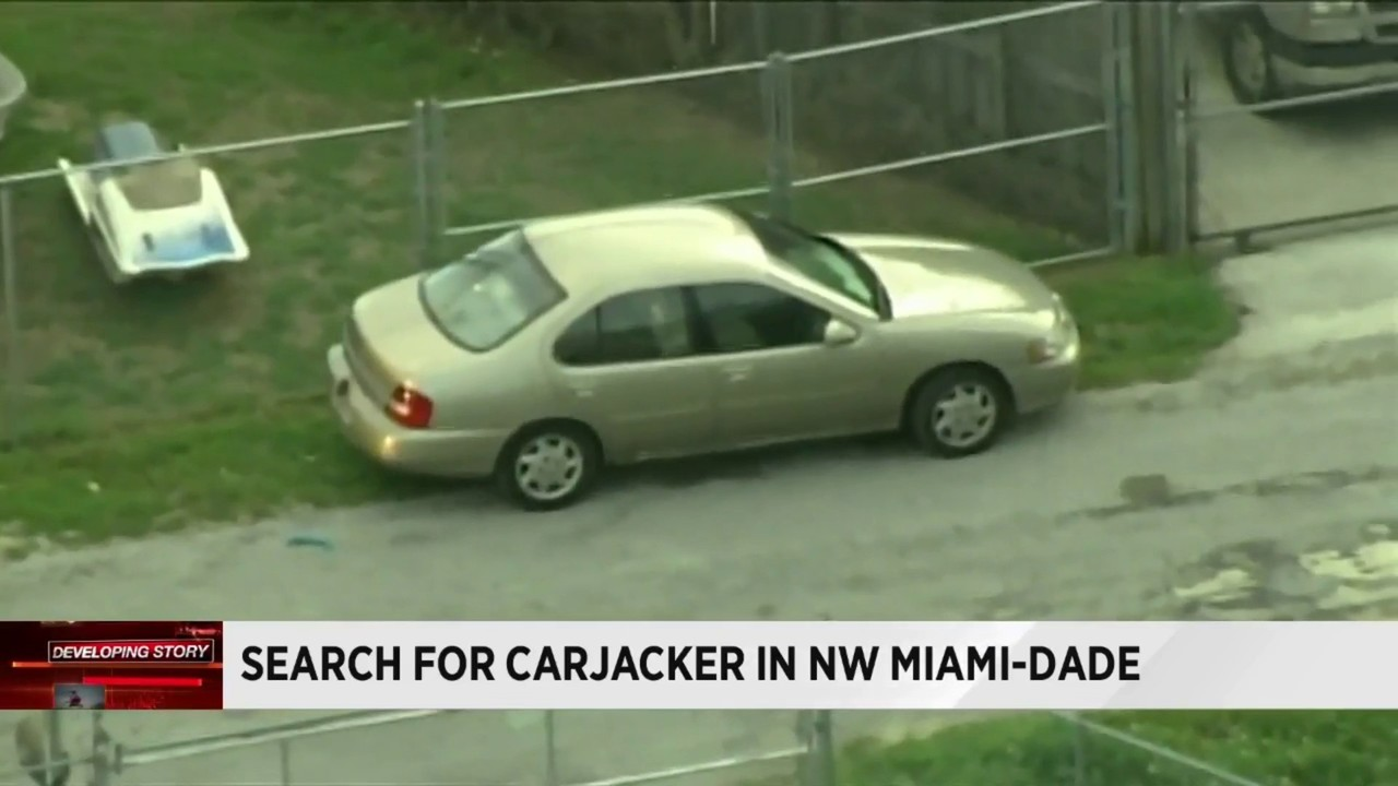 1 in custody, 1 sought after carjacking in northwest miami-dade