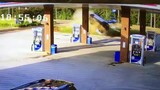 Video shows driver smash into gas station pump