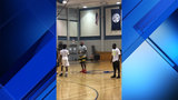 LeBron James watches son in South Florida gym