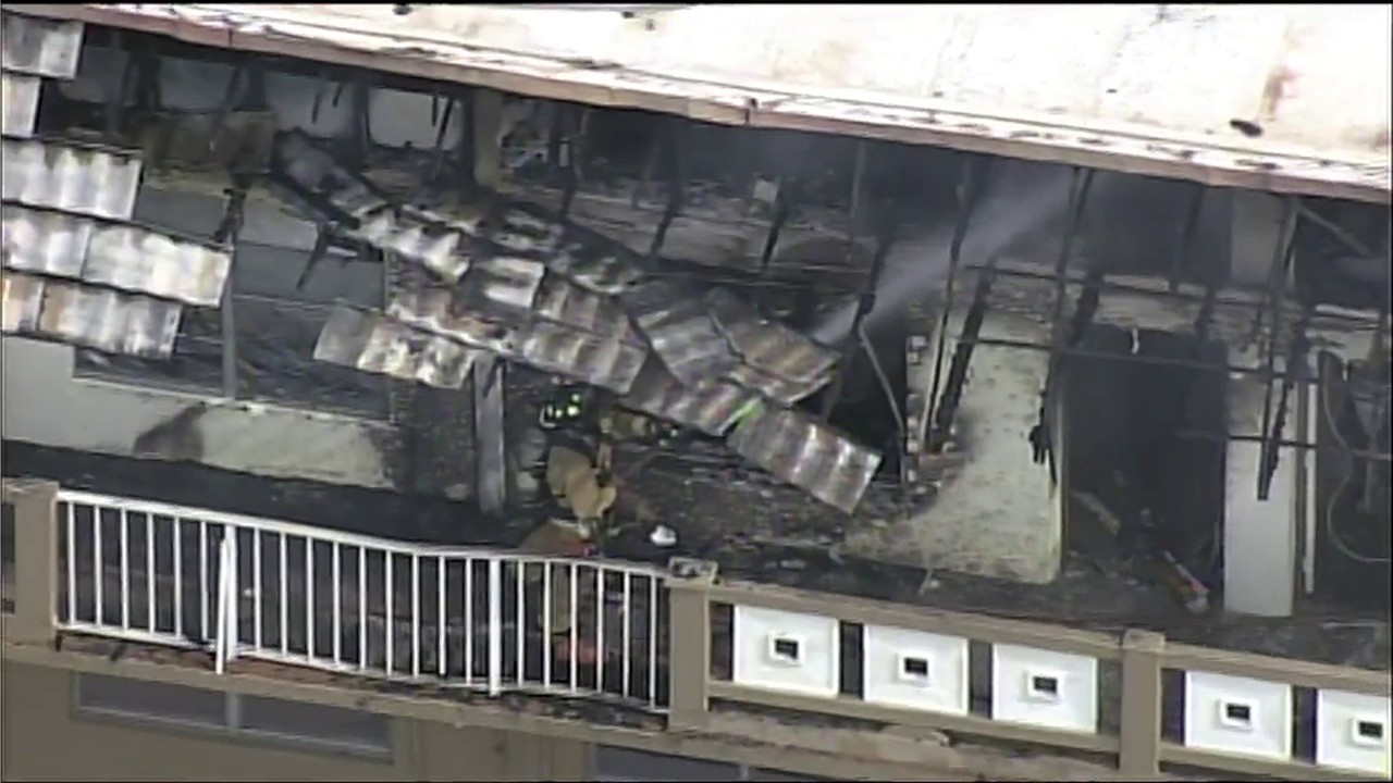 Fire destroys section of apartment building in miami gardens for Miami gardens building department