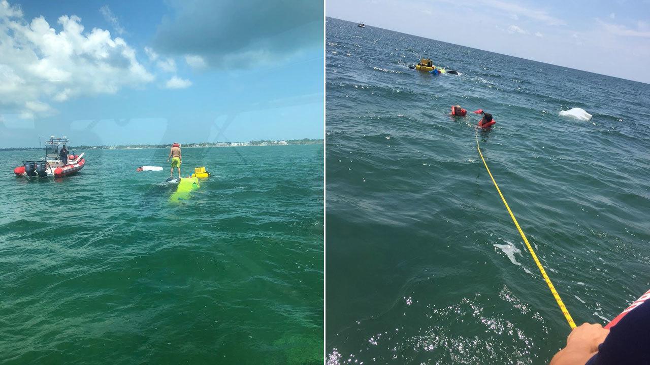 Coast Guard Rescues 2 Men After Boat Capsizes In Florida Keys