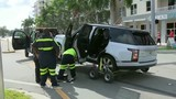 Dramatic crash in Fort Lauderdale caught on video