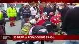 23 die in bus crash in Ecuador