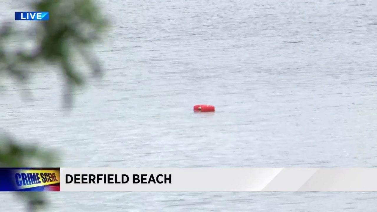 c2ab04d5 Video thumbnail for Human remains discovered inside car pulled from Deerfield  Beach lake