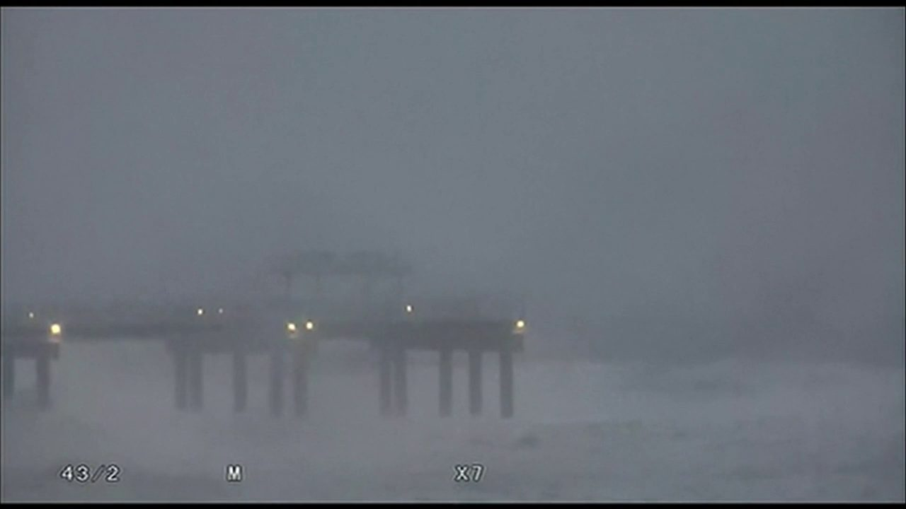 a5802f59f5c4 Video thumbnail for Gordon slams Gulf Coast with tropical-force winds