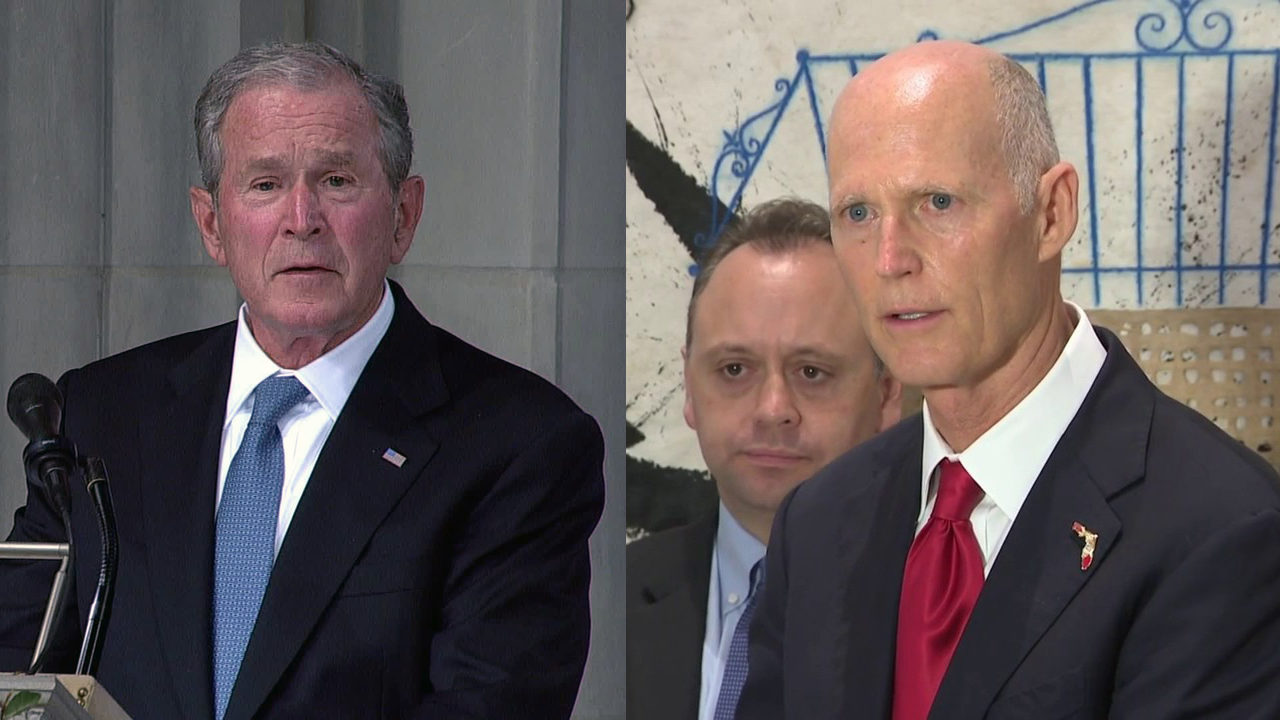 Bush To Campaign For Scott In Tampa West Palm Beach
