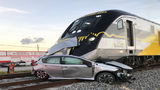 Brightline train crashes into car in Hallandale Beach