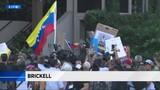 Protesters gather outside Salt Bae's Miami restaurant