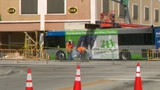 Miami-Dade Transit begins slow process of removing bus from building